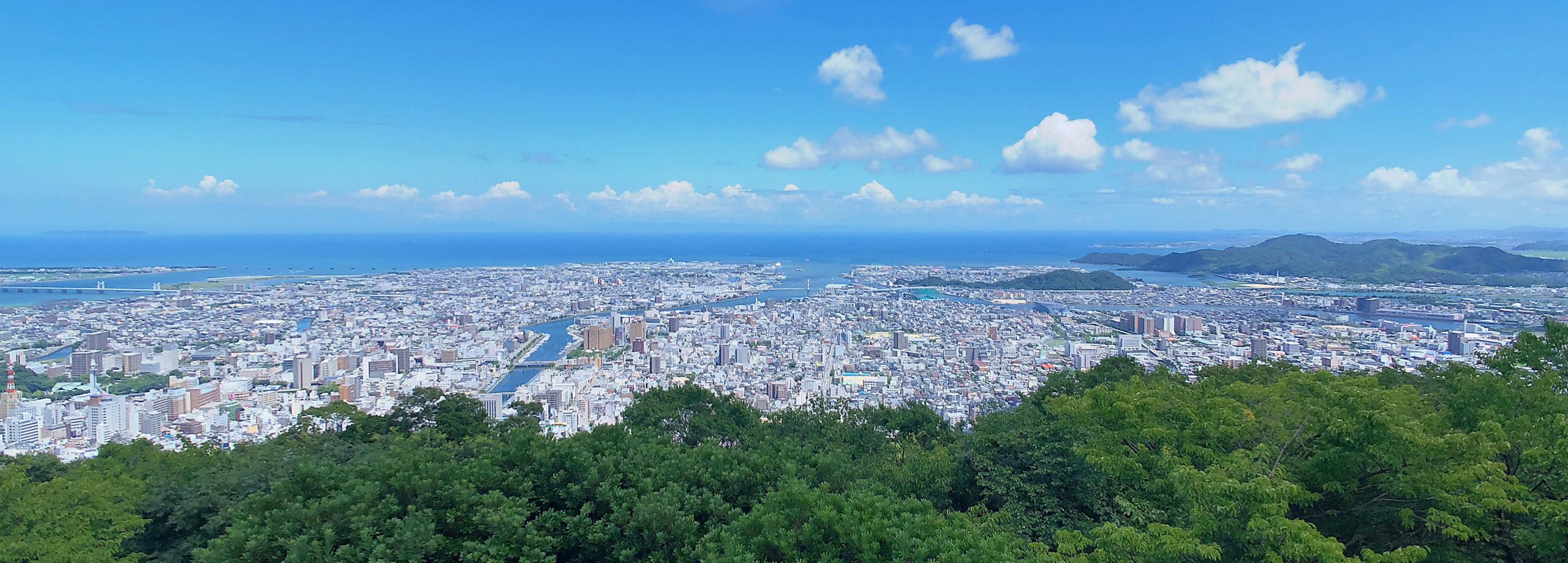 眉山から見た徳島の景色